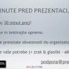 Minute pred prezentacijo brez živčnosti