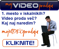 Nagradna igra 2012 - paket Moj VIDEO prodaja